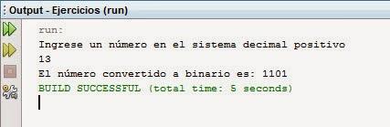 Como Convertir un Numero Decimal a Binario en Java