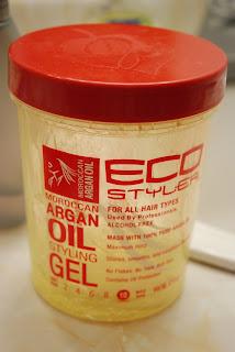 Eco Styler Gel With Argan Oil On Natural Hair