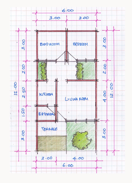 layout of house plan A-02b