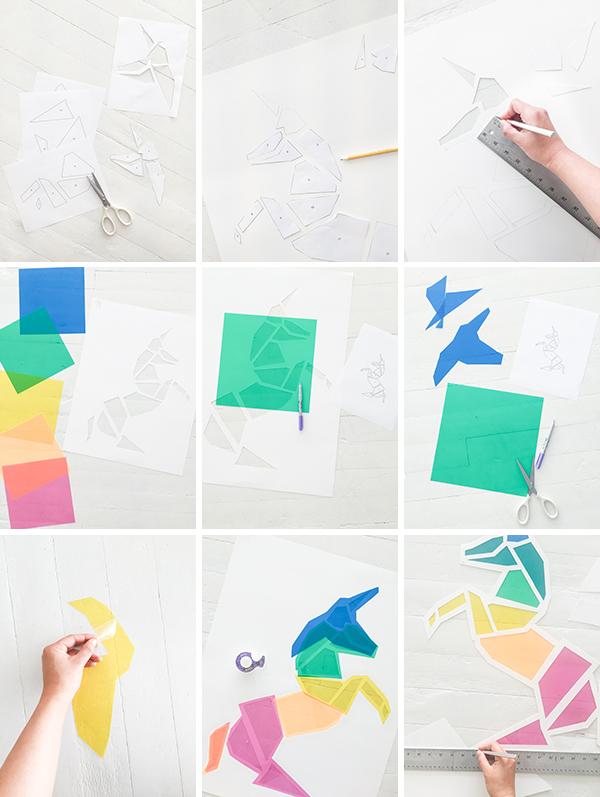 Un unicornio de colores de papel - Handbox Craft Lovers ...