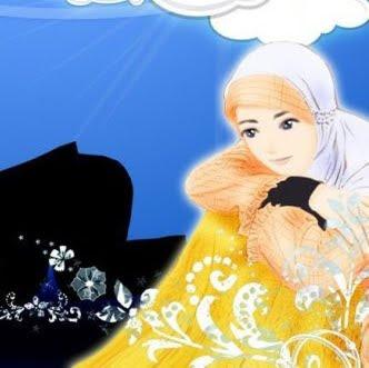 Gambar Kartun Cewek Cantik Pakai Jilbab Muslimah Cantik Berhijab