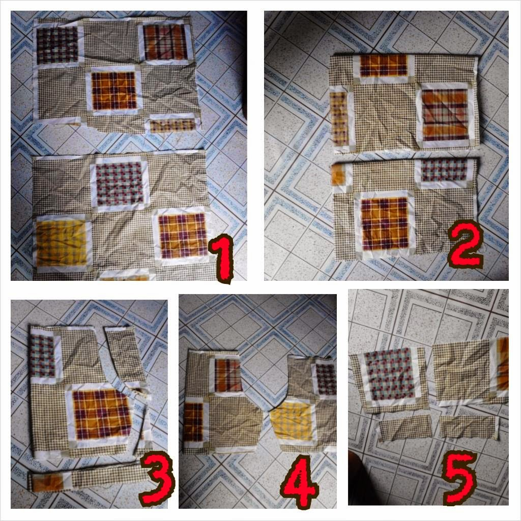 procedure in cutting simple designed shorts