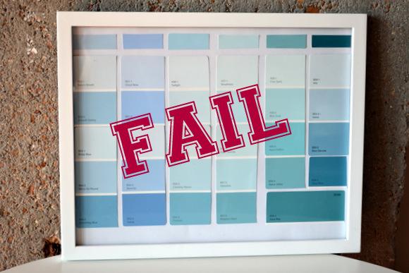 Diy Paint Strip Calendar : Paint swatch calendar diy playbook