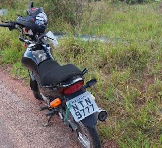 PM encontra motocicleta abandonada