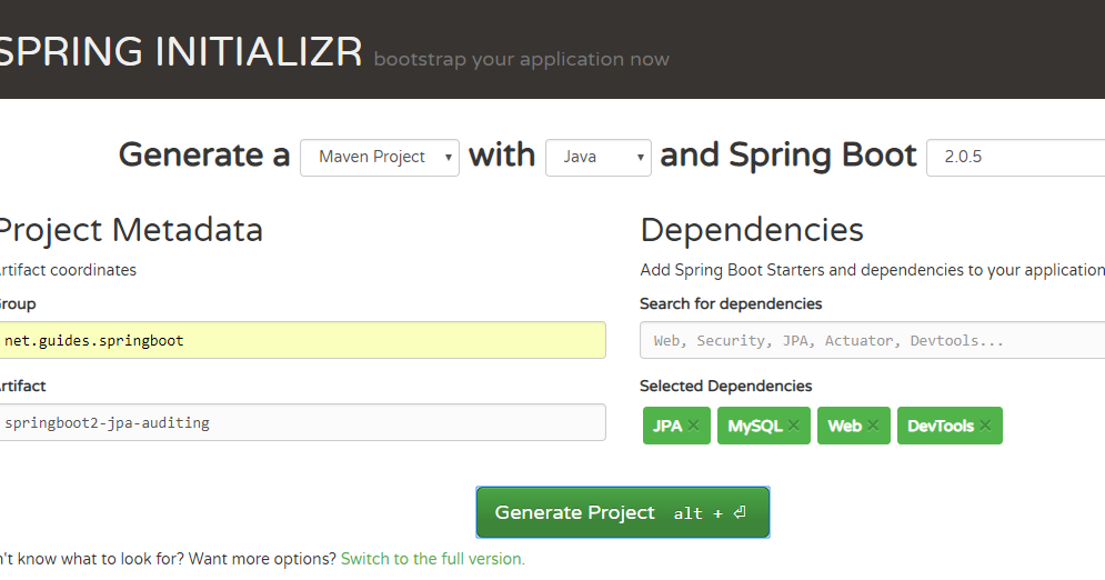 Spring Data JPA Auditing with Spring Boot 2 and MySQL Example