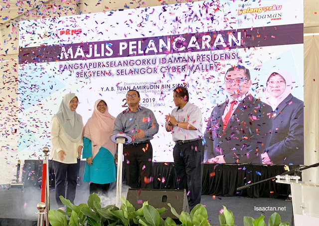 Launching of Pangsapuri Idaman Residensi officiated by the Chief Minister of Selangor, Amiruddin Shari
