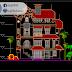 مخطط مشروع منزل باربع طوابق اوتوكاد dwg