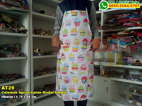 Celemek Apron Katun Model Simple