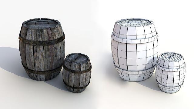 Barril asset 3D