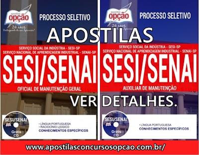 Apostila opção para o processo seletivo SESI-SP e SENAI São Paulo