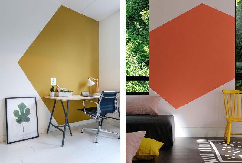 disegni geometrici sulla parete