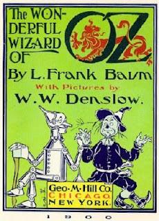 Cubierta del libro 1900 de L. Frank Boum: The Wonderful Wizard of Oz