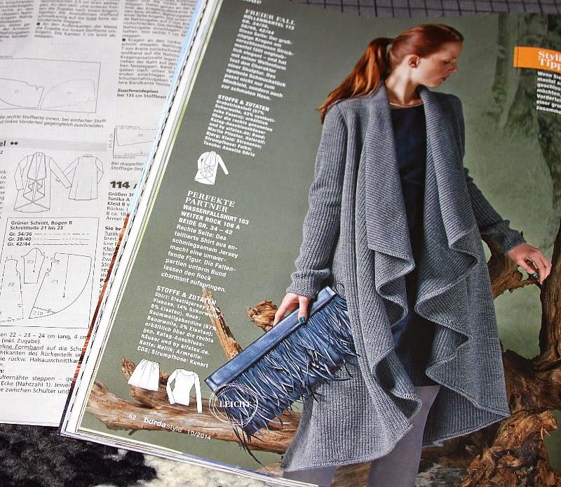 machwerk: Burda 10/2014: Wasserfall-Jacke und Eggshape-Kleid
