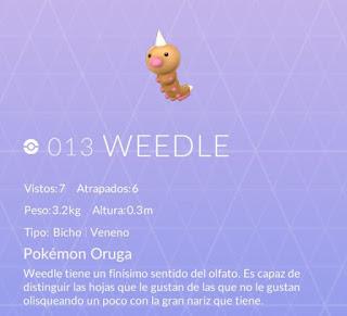 weedle pokemon go