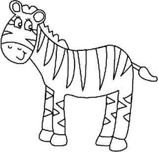 Baby Zebras Coloring Sheet For Kids