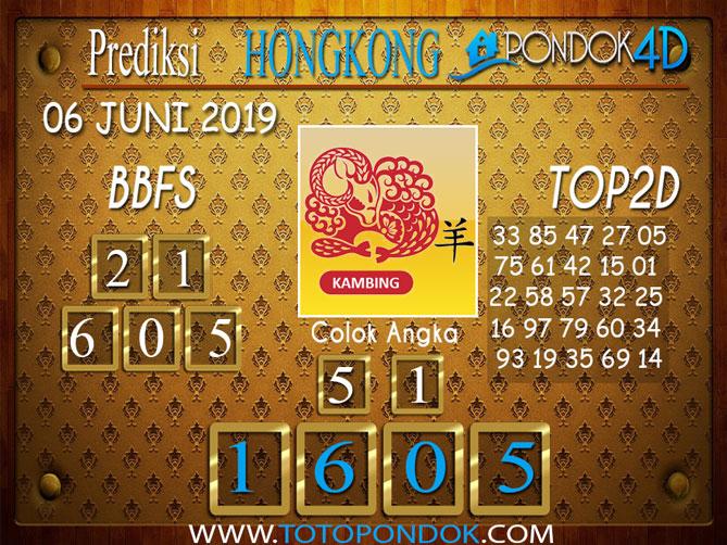 Prediksi Togel HONGKONG PONDOK4D 06 JUNI 2019