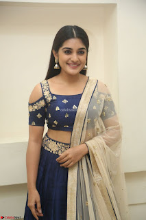 Niveda Thomas in Lovely Blue Cold Shoulder Ghagra Choli Transparent Chunni ~ Exclusive Celebrities Galleries 084