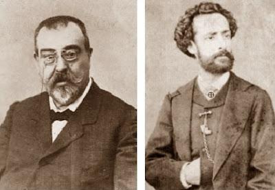 Los problemistas de ajedrez Josep Tolosa y Joan Carbó