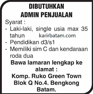 Lowongan Kerja Admin (Lulusan D3 dan S1) di Batam