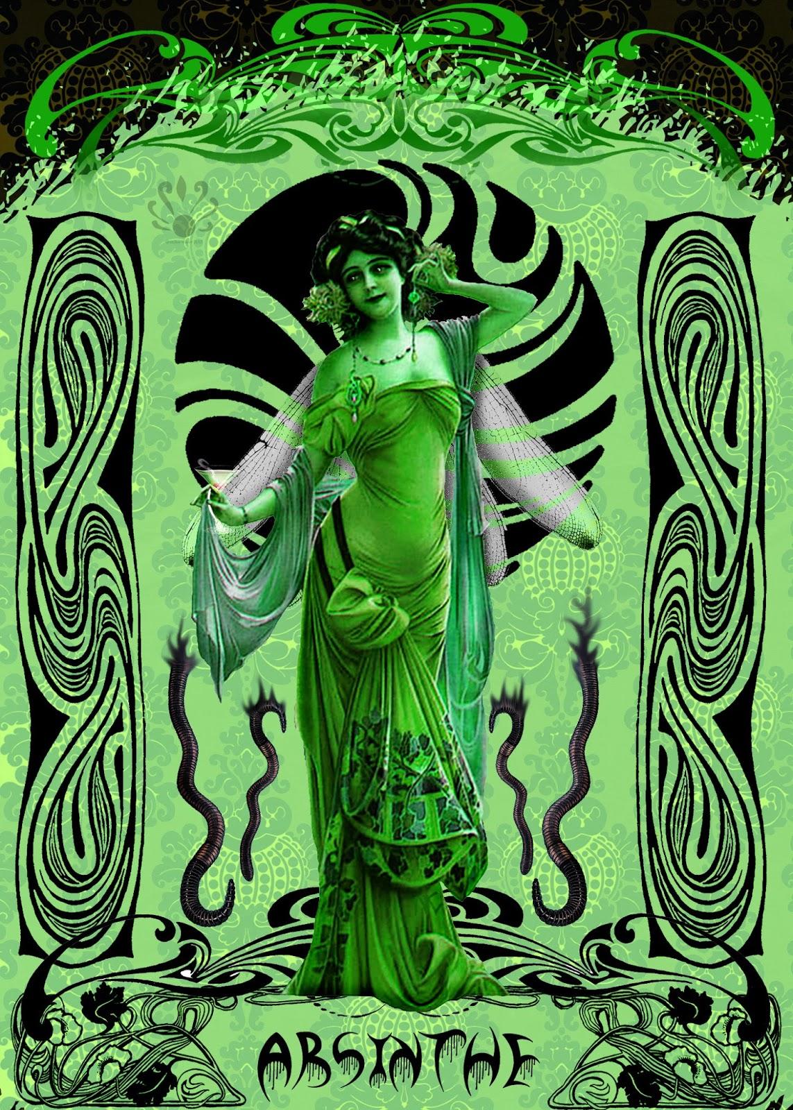Pearllight Studio Green Absinthe Fairy