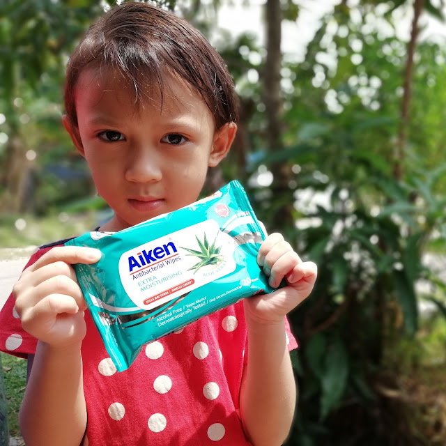 AIKEN ANTI BACTERIAL WIPES, TISU BASAH TANPA ALKOHOL