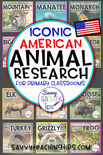 I like to try to combine Language Arts with Science whenever I can.  That's why I came up with my Non-Fiction Animal research units for Primary classrooms.