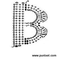 Patrón de letra B de ganchillo