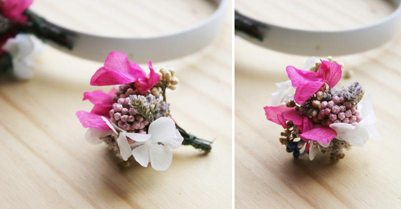DEF Deco - Decorar en familia: Diy diadema de flores preservadas y secas2