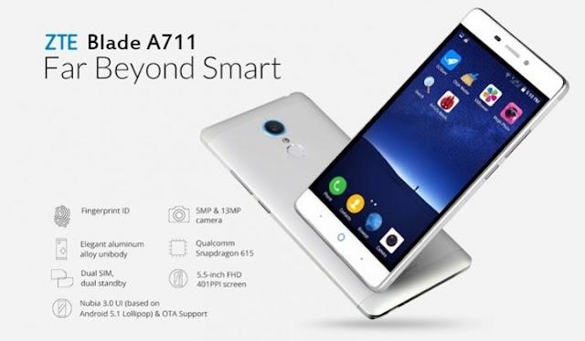 Harga HP ZTE Blade A711 Tahun Ini Lengkap Dengan Spesifikasi Lengkap Dengan Feature Finger Print Harga 2 Juta-an