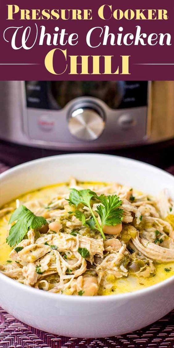Pressure Cooker White Chicken Chili Recipe