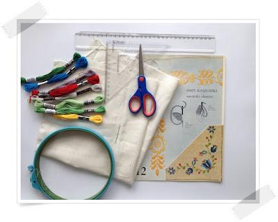 DIY, haft, poduszka, tutorial, kaszubski,