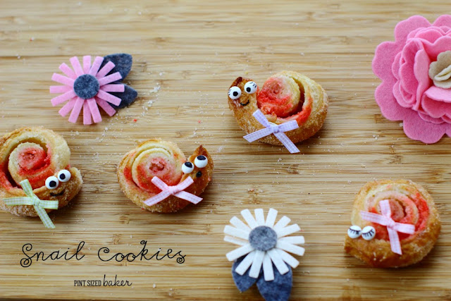 Have some fun with the kids in the kitchen making some Puff Pastry Snail Cookies. They are sure to be a hit at your garden party!
