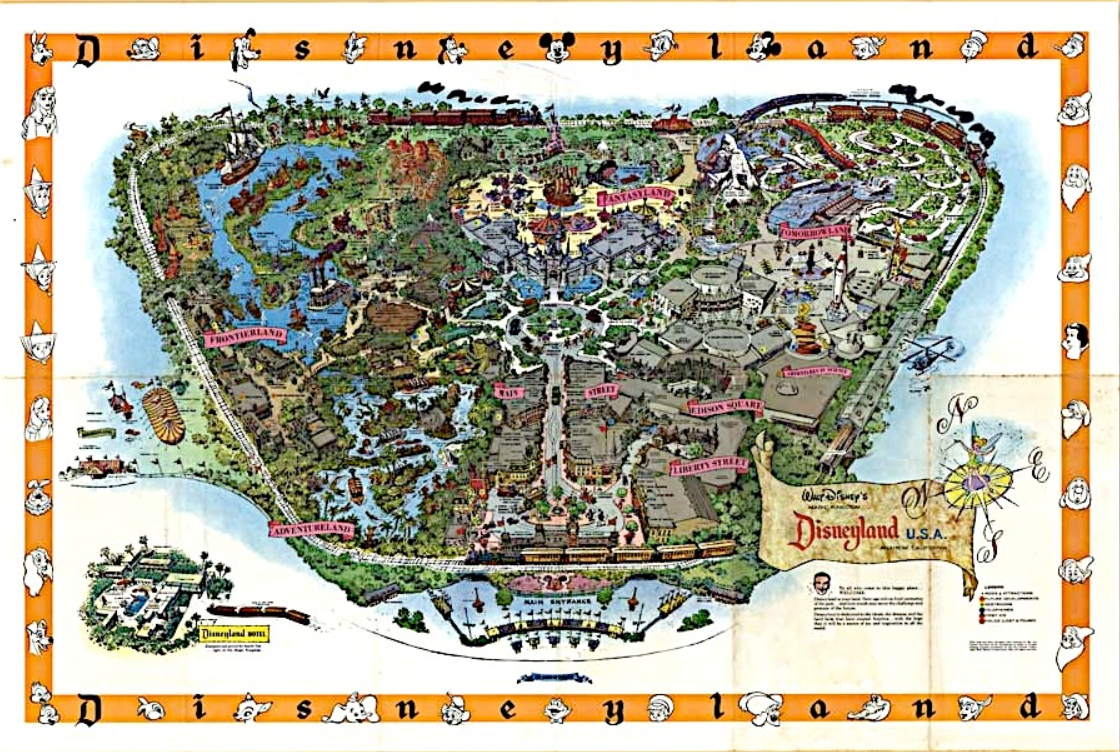 Disney Avenue Disneyland Map Evolution - Most recent magi map by us states