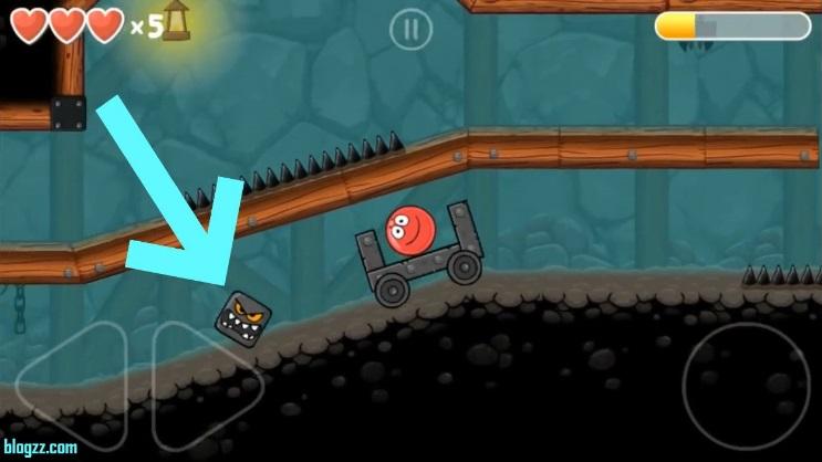 Bölümleri daha hızlı geçmek için Red Ball 4'teki araçları kullanabilirsiniz.