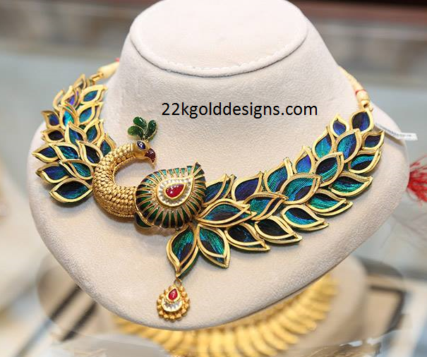 Joyalukkas Peacock Necklace