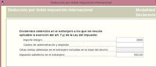deducción doble imposición internacional