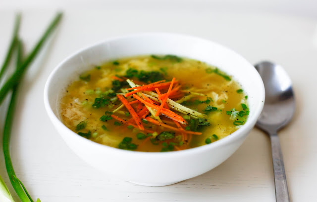 Ginger and Turmeric Soup - A great way to serve bone broth