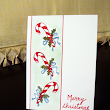 Candy Cane Merry Christmas Card