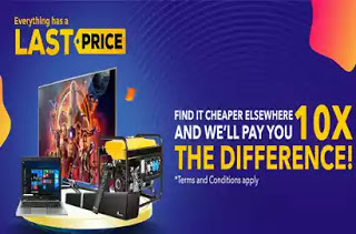 Jumia Will pay you 10X More if you Find a Product Cheaper Elsewhere