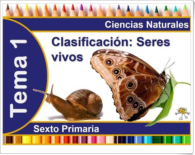 Unidad 1 Clasificación de los seres vivos Ciencias Naturales de 6º de Primaria José Alberto Verdugo