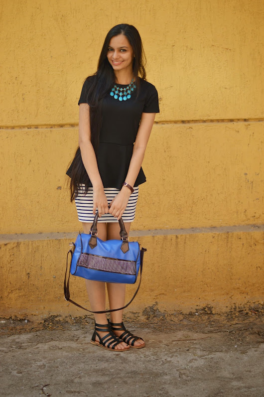 Chiconomical: Stripey Saturday: How To Wear Peplum and Striped Skirts