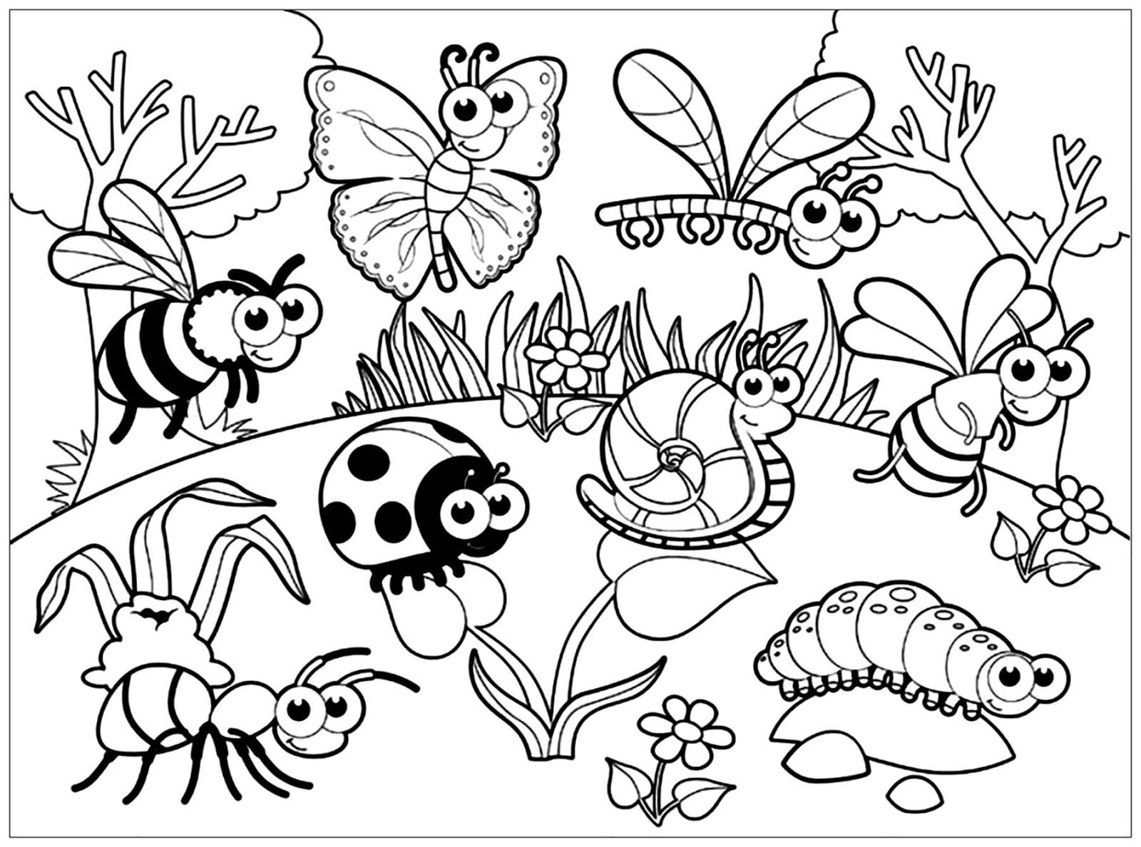 Tranh tô màu những con côn trùng đẹp