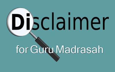 discalimer for guru madrasah