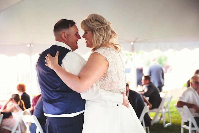 first dance at new baltimore waterfront wedding