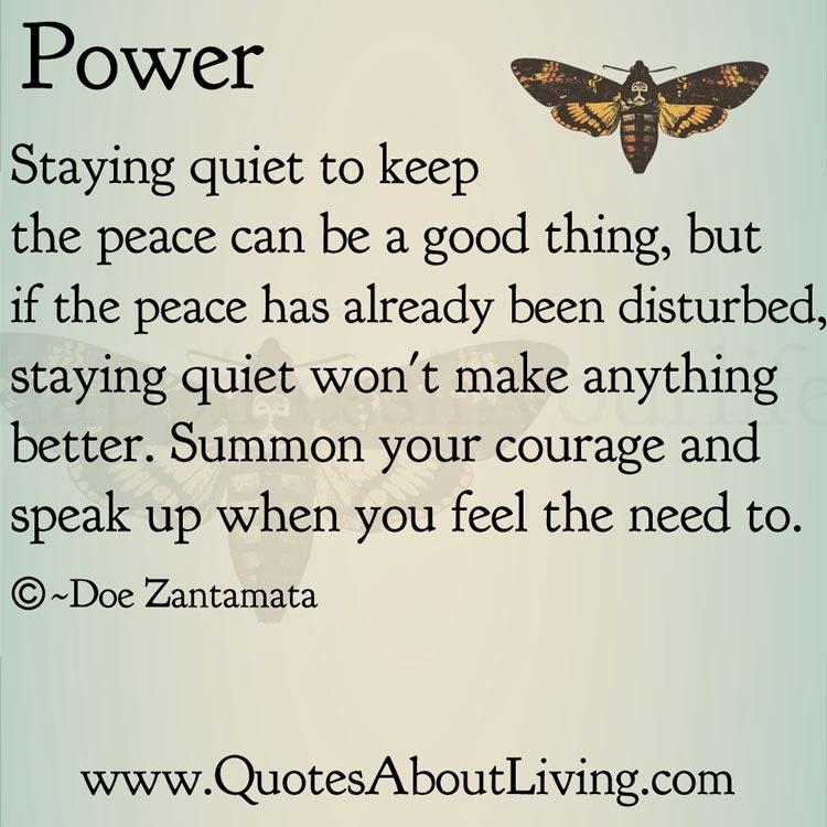 Speak Up Quotes Quotes About Living   Doe Zantamata: Power   Speaking up Speak Up Quotes