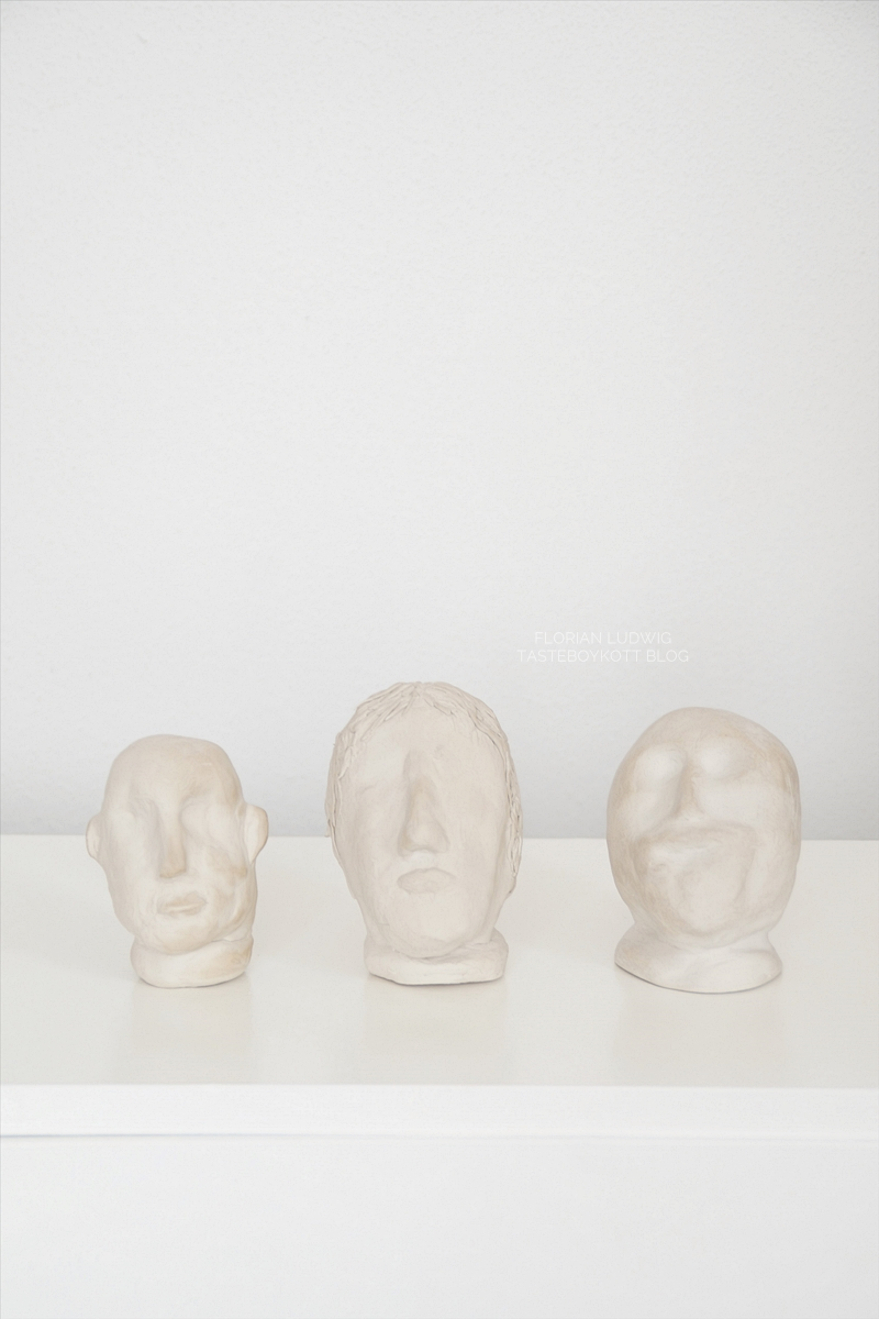 DIY Tonköpfe/ Büsten aus Ton selber machen Kunst Dekoobjekt minimalistisch modern Tasteboykott Blog