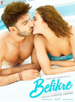 Befikre 2016 Hindi Movie Free Download BRRip 480p 380mb
