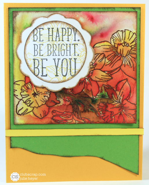 #splitcoaststampers #clubscrap #daffodils #colorbursts