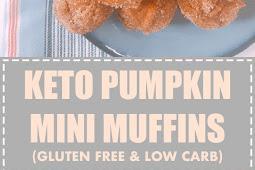 Keto Pumpkin Mini Muffins (Gluten Free & Low Carb)