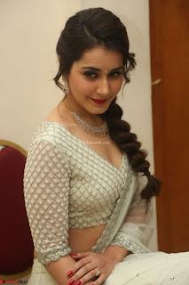 Raashi Khanan looks stunning in Crop Top Deep neck Choli Ghagra Transparent Chunni WOW ~  Exclusive Celebrities Galleries 021.JPG